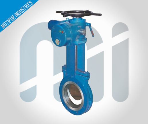 KNIFE-GATE-VALVE-ELECTRIC-ACTUATOR-OPERATED